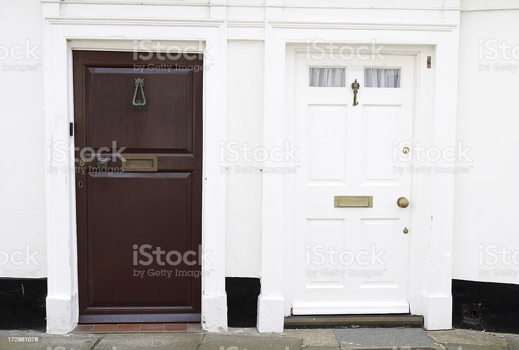 two doors royalty-free stock photo