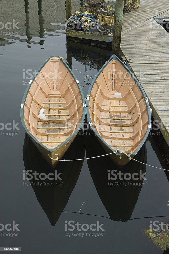 Two Dories royalty-free stock photo
