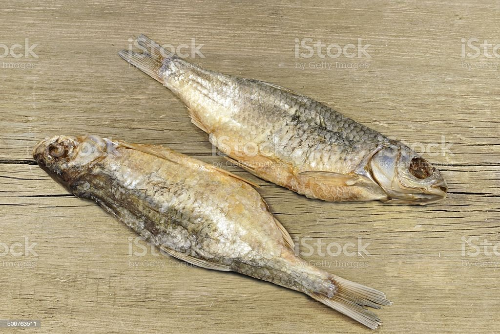 Two Dried Salt Fish stock photo