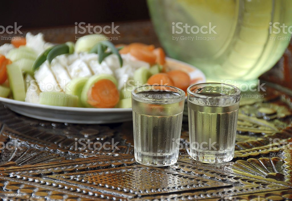Two drinks royalty-free stock photo