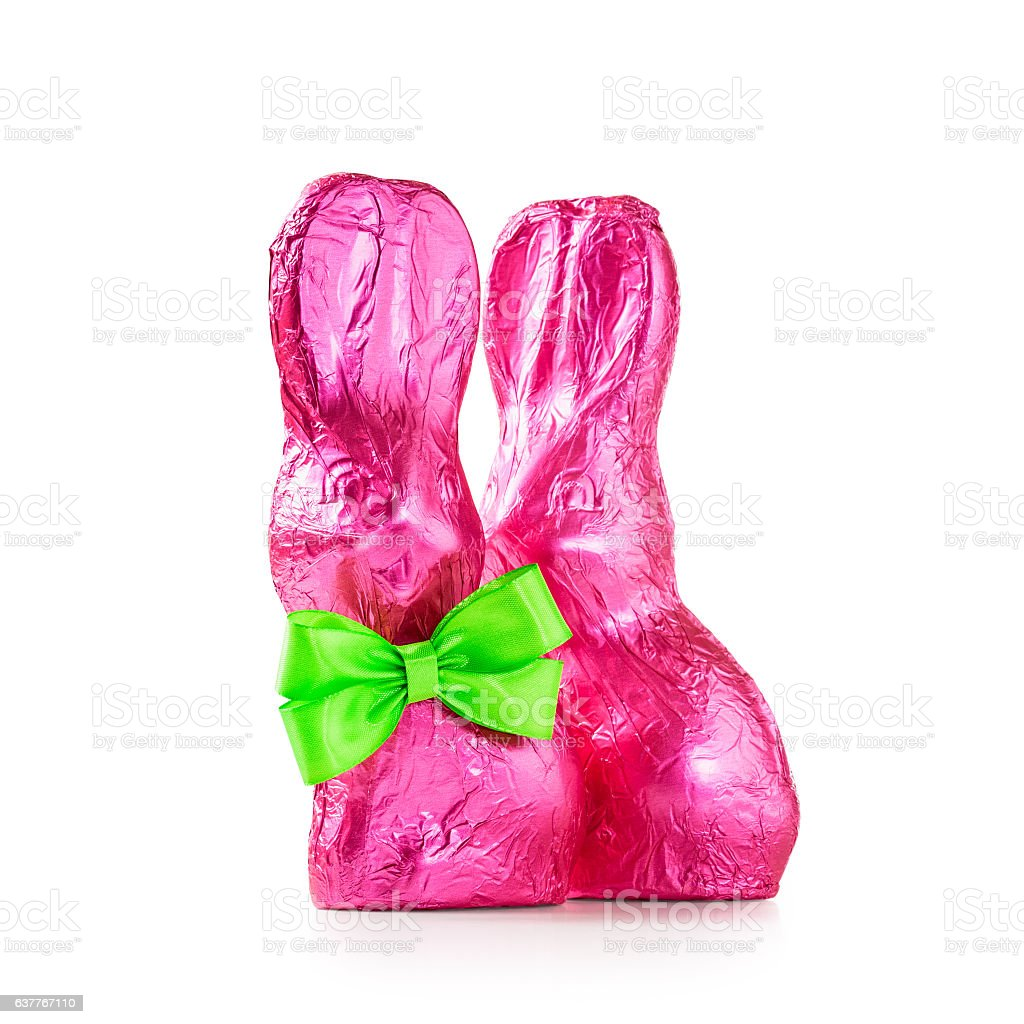 Two easter bunnies stock photo