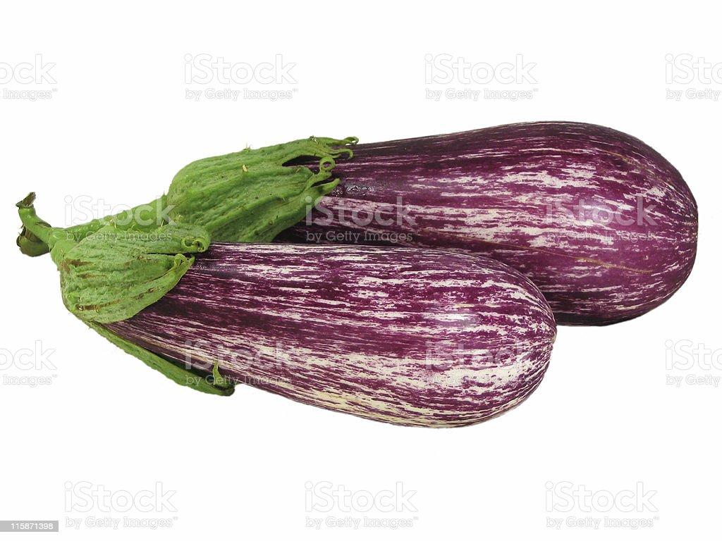 Two eggplants isolated royalty-free stock photo