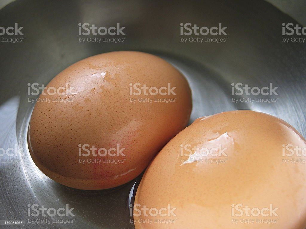 two eggs but not just two eggs stock photo