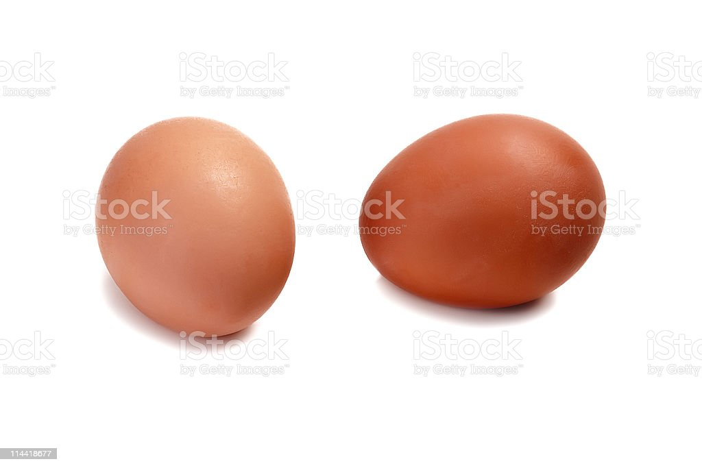 Two eggs royalty-free stock photo