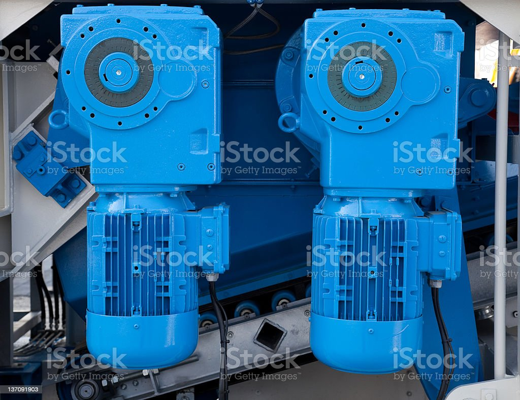 two electric motors royalty-free stock photo