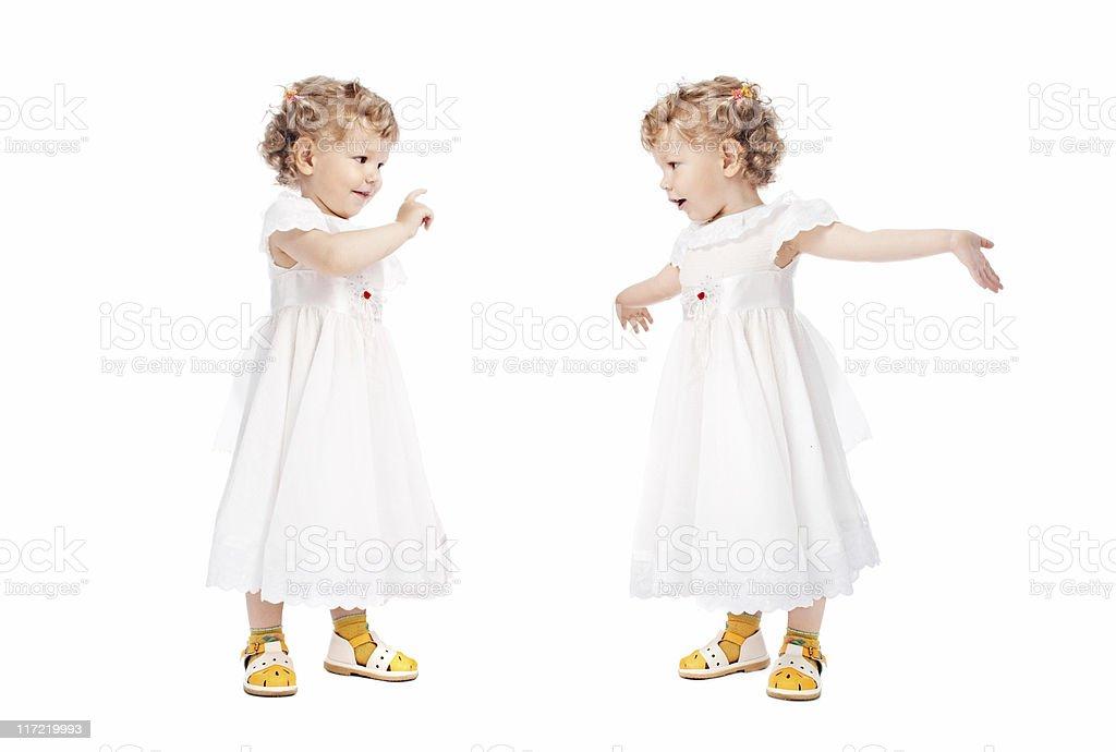 two emotional girls royalty-free stock photo
