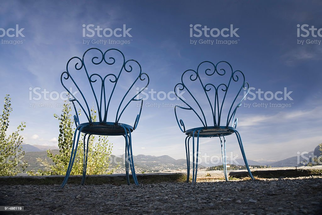Two Empty Chairs stock photo