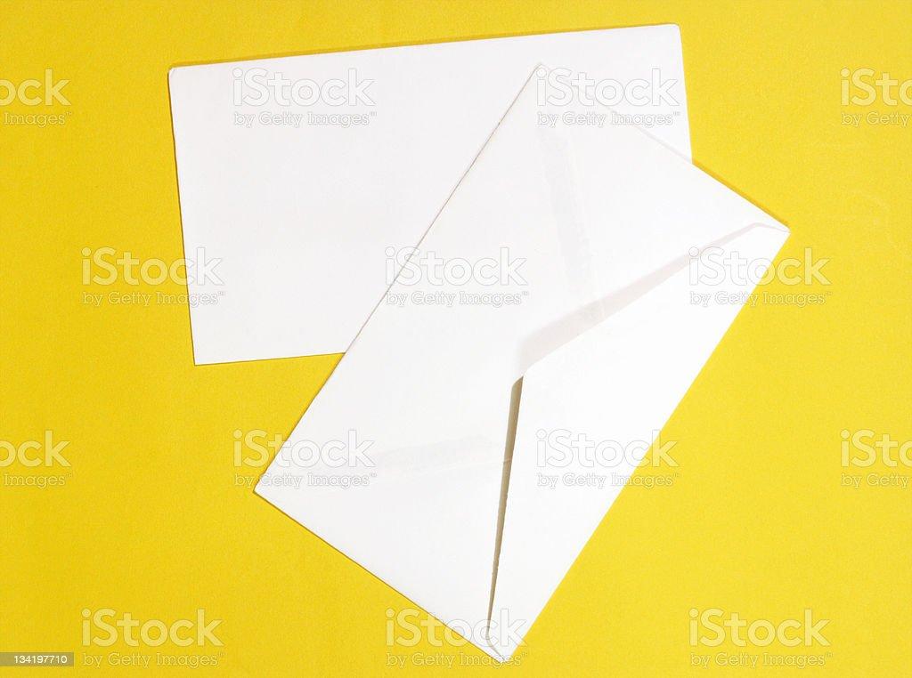Two Empty Envelope. royalty-free stock photo