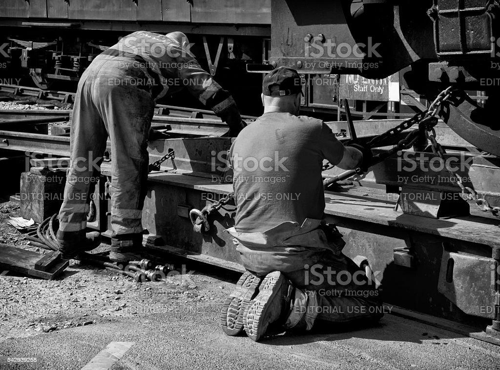 Two engineers working stock photo