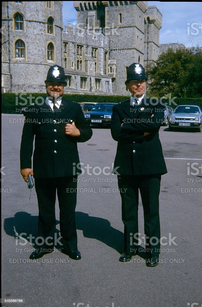 Two English Constable stock photo