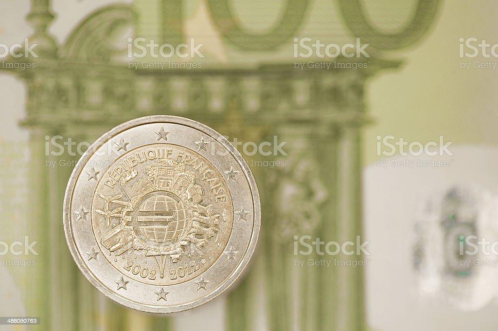 Two euro coin. stock photo
