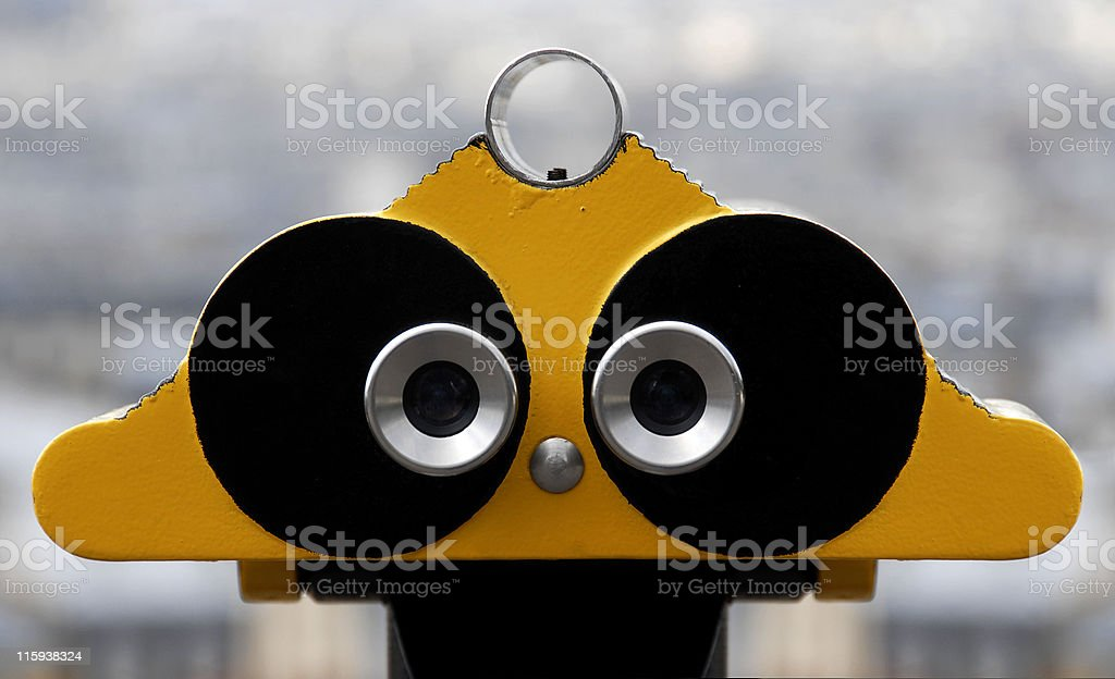 Two eyes stock photo