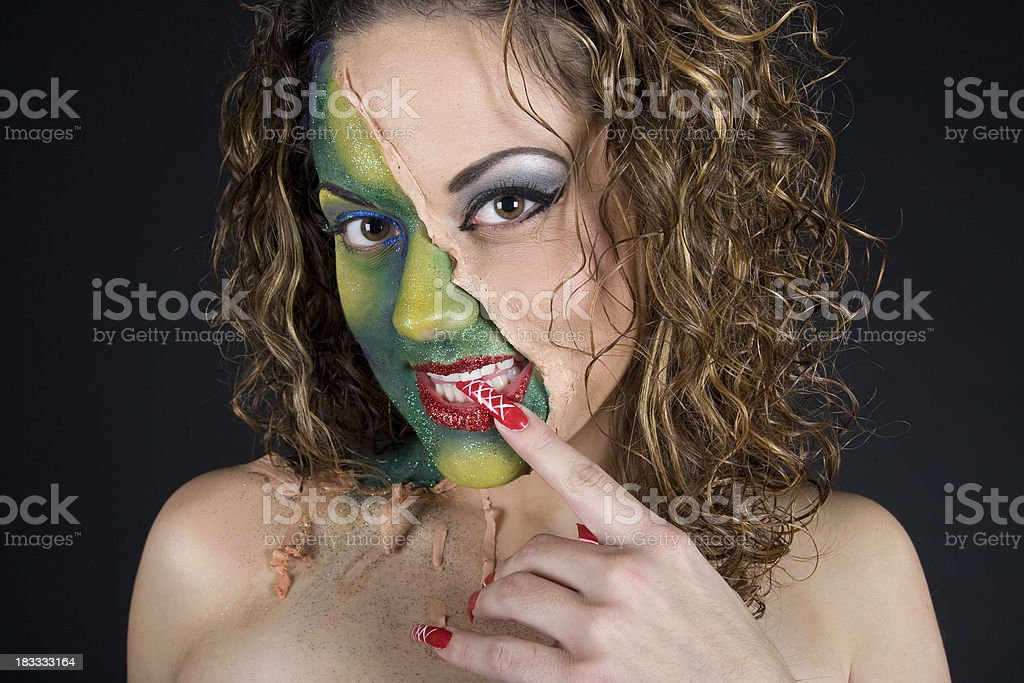 Two Face Beauty royalty-free stock photo