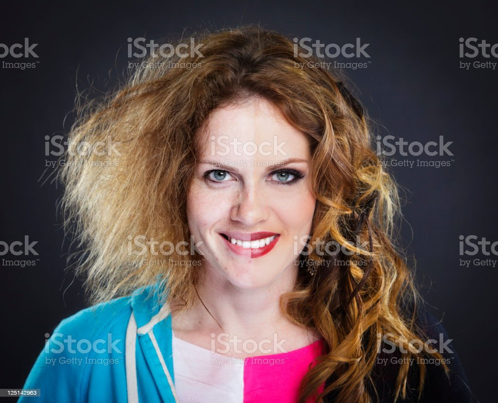 Two Faced Model stock photo