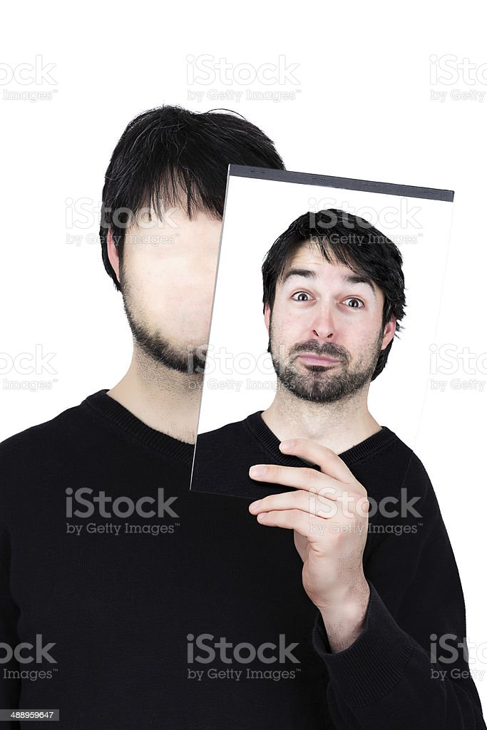 two faces amazed royalty-free stock photo