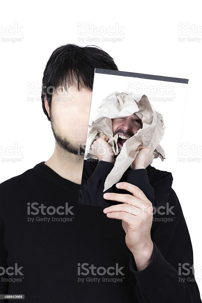 two faces paperwork royalty-free stock photo