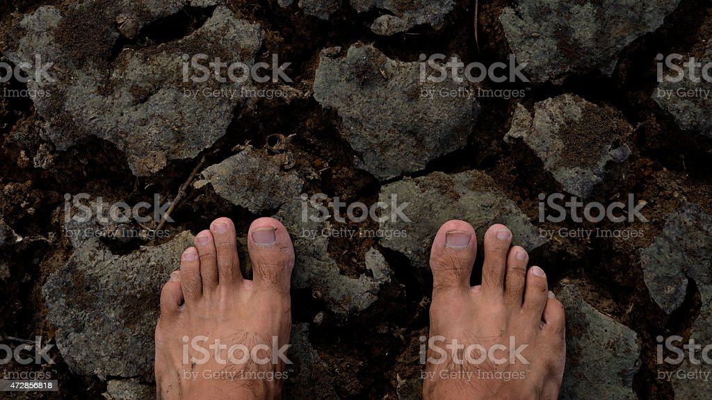 Two feet of hope stock photo