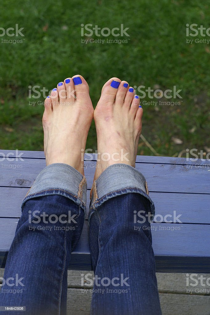 Two Feet with Bunions stock photo