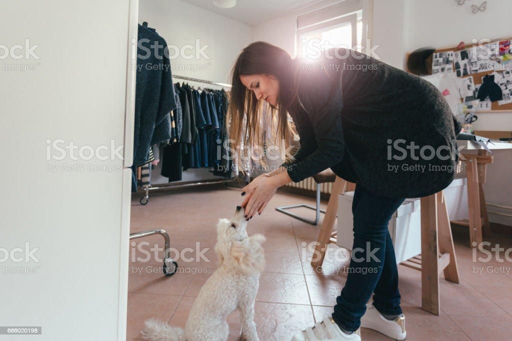 Two female entrepreneurs stock photo