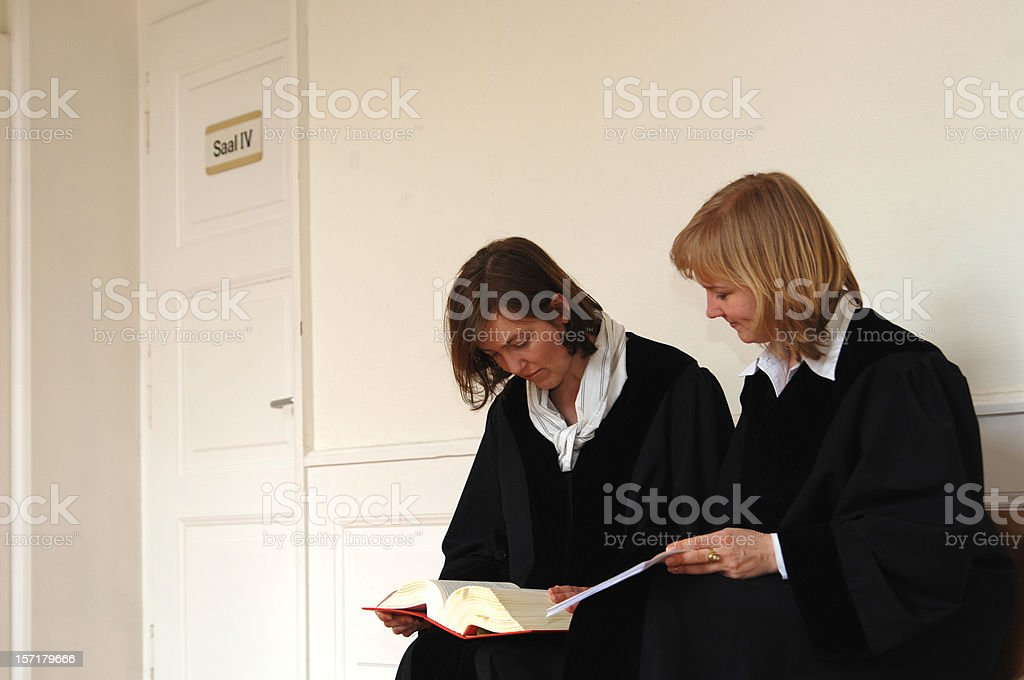 two female judges stock photo