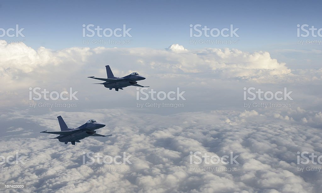 Two Fighter Jets stock photo