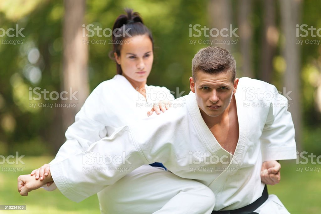 Two Fighters stock photo