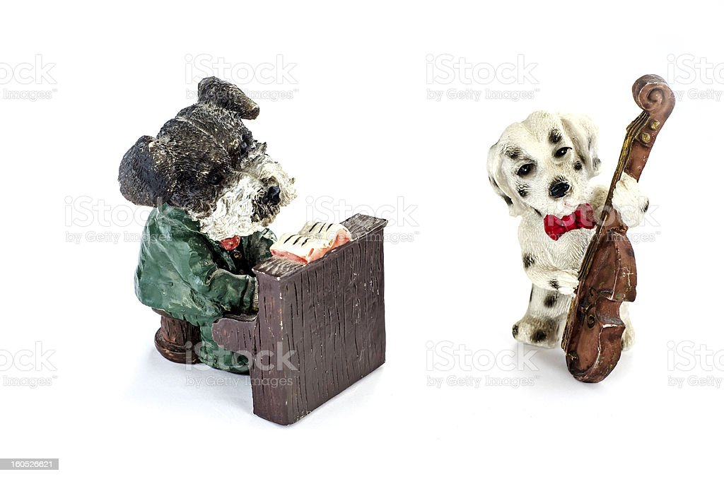 two figures of dogs royalty-free stock photo
