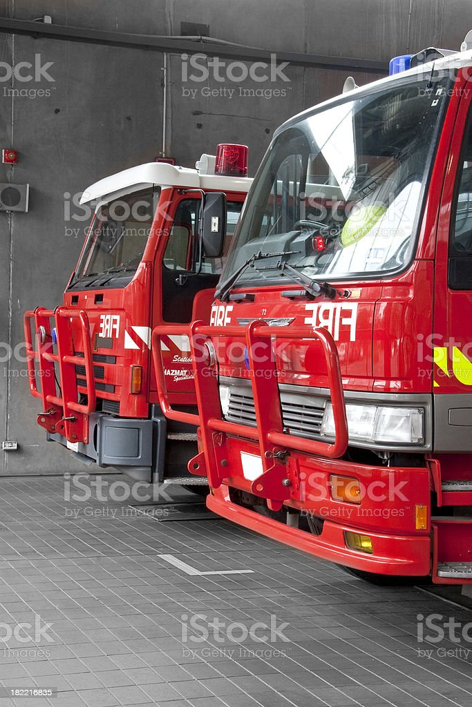 Two Fire Trucks royalty-free stock photo