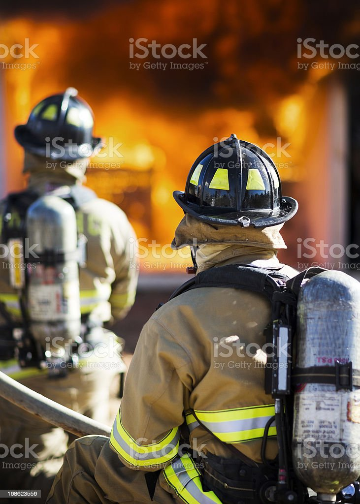 Two Firefighters stock photo