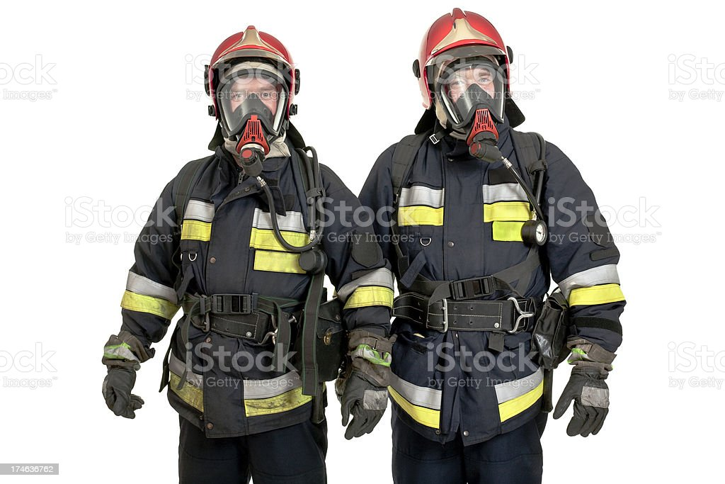 two firemen royalty-free stock photo