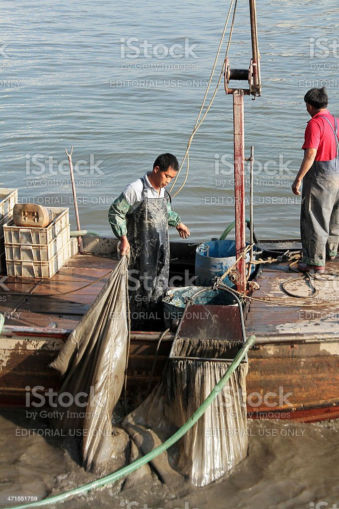 Due pescatori a Guangzhou foto stock royalty-free