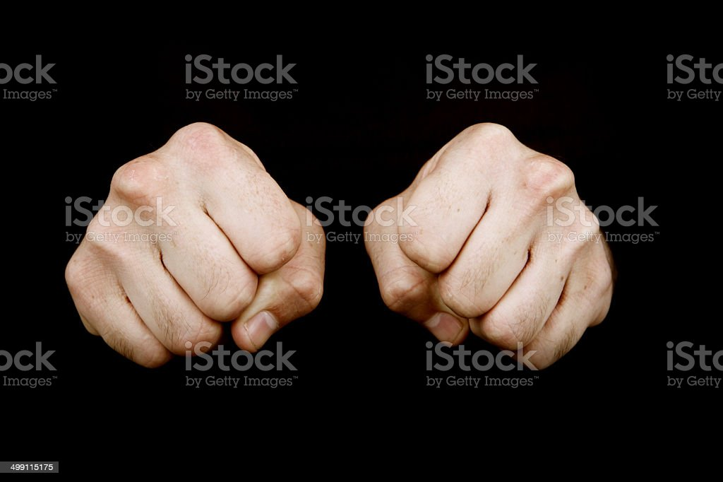 Two Fists royalty-free stock photo