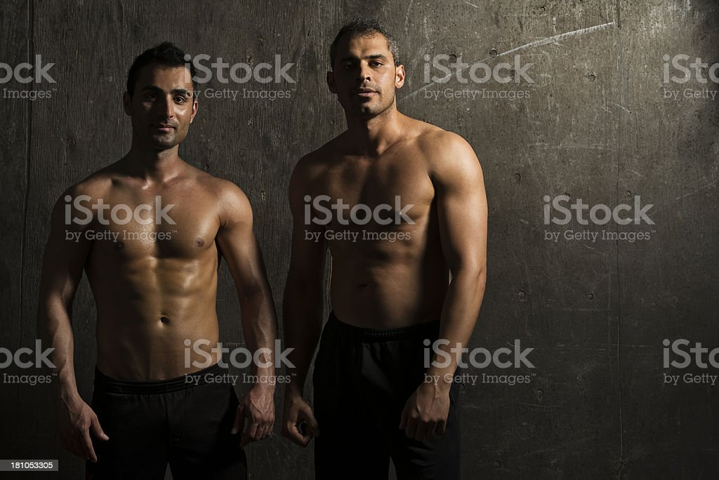 Two fit guys royalty-free stock photo