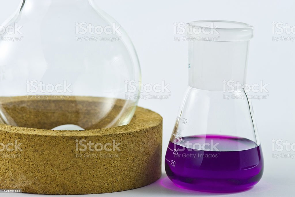 two flasks stock photo