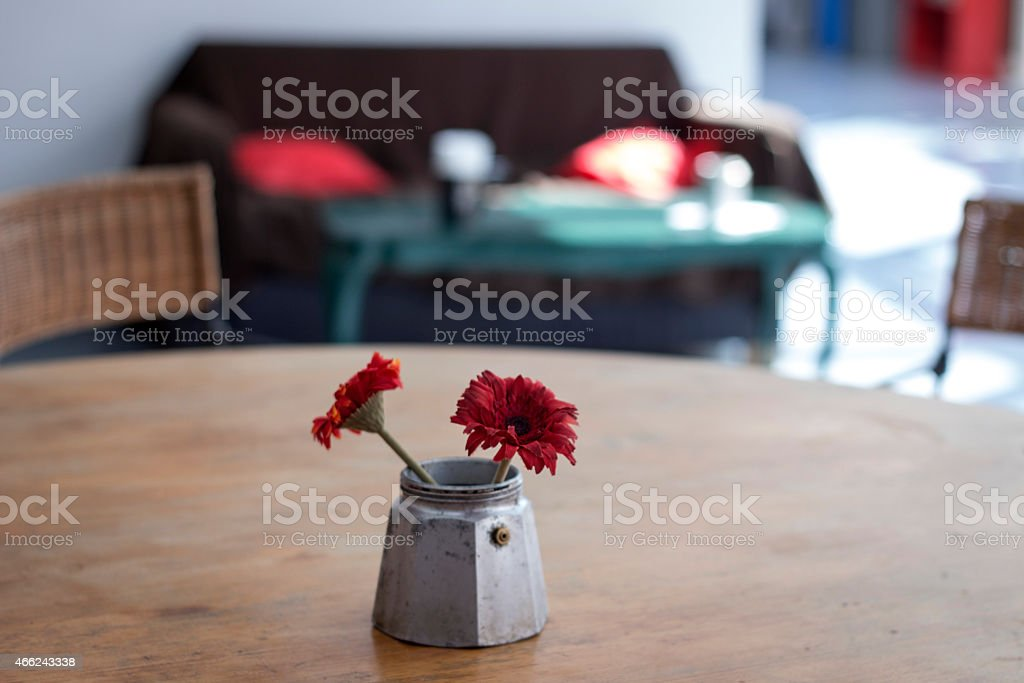 Two flowers in quiet stock photo