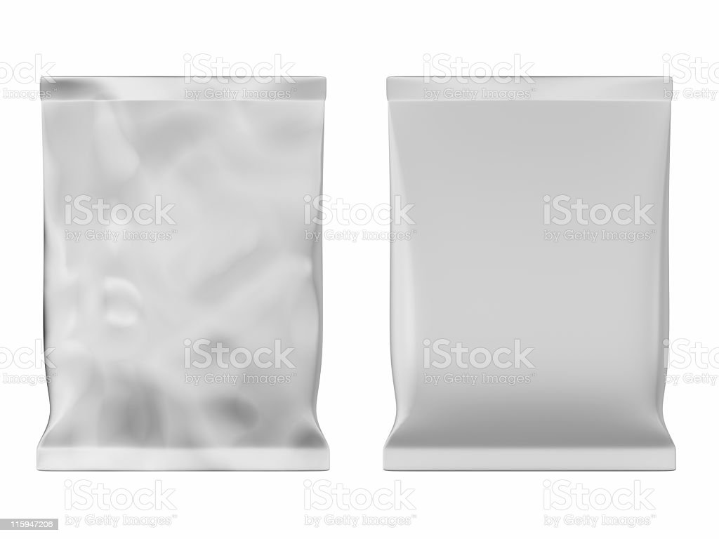 Two food bags in varying degrees of condition royalty-free stock photo