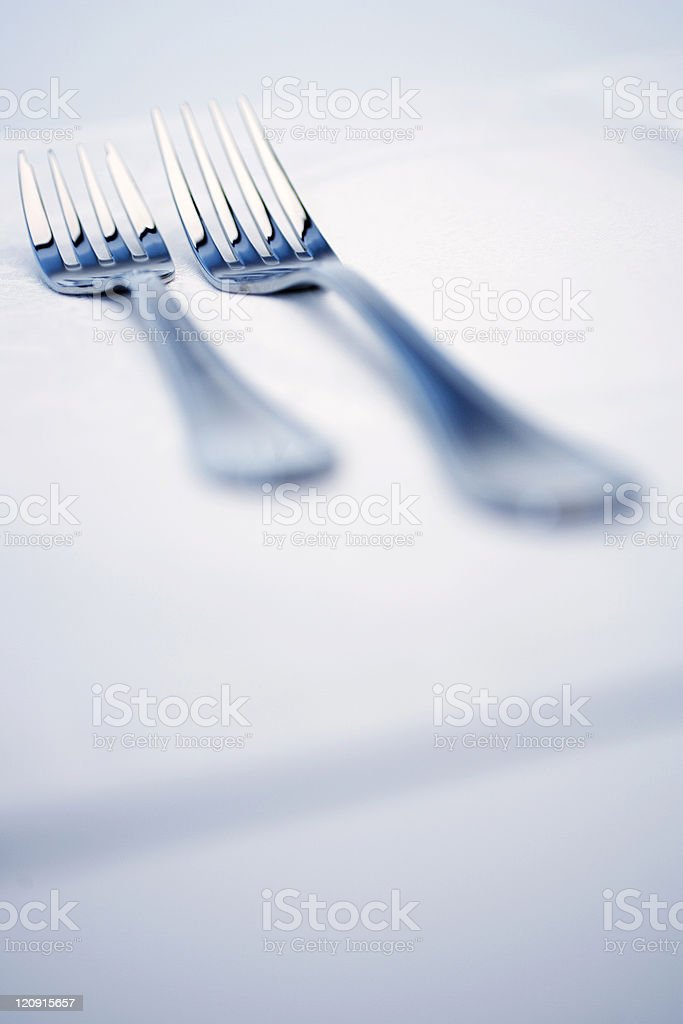 Two forks royalty-free stock photo
