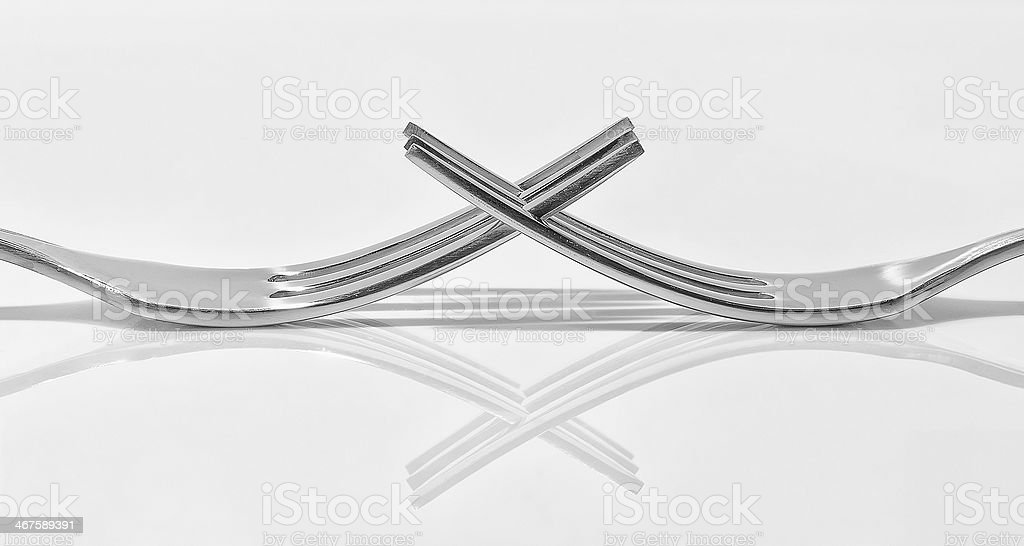 Two forks stock photo