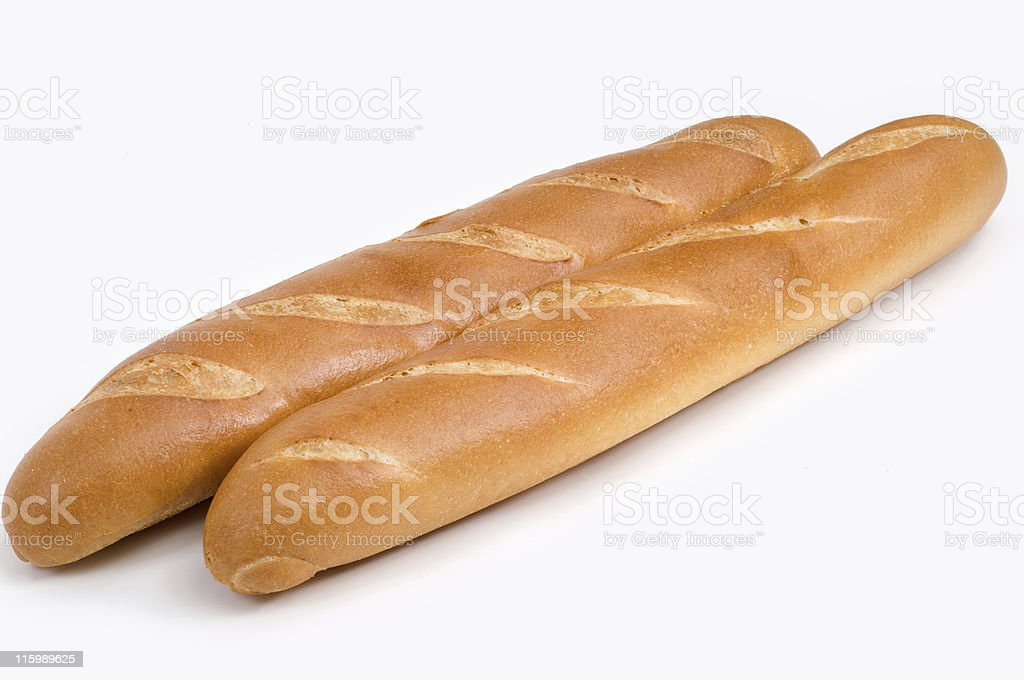 Two french baguettes royalty-free stock photo