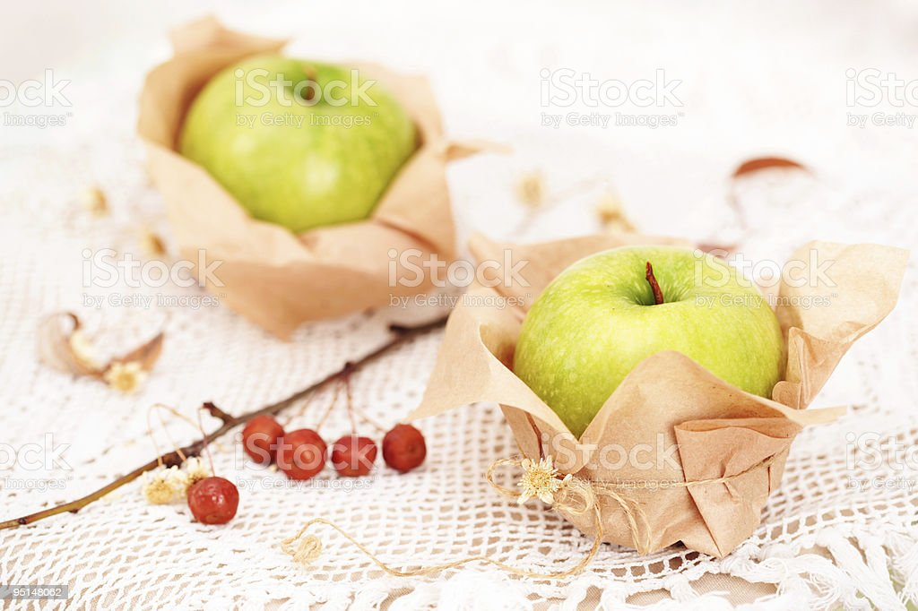 Two fresh  apples stock photo