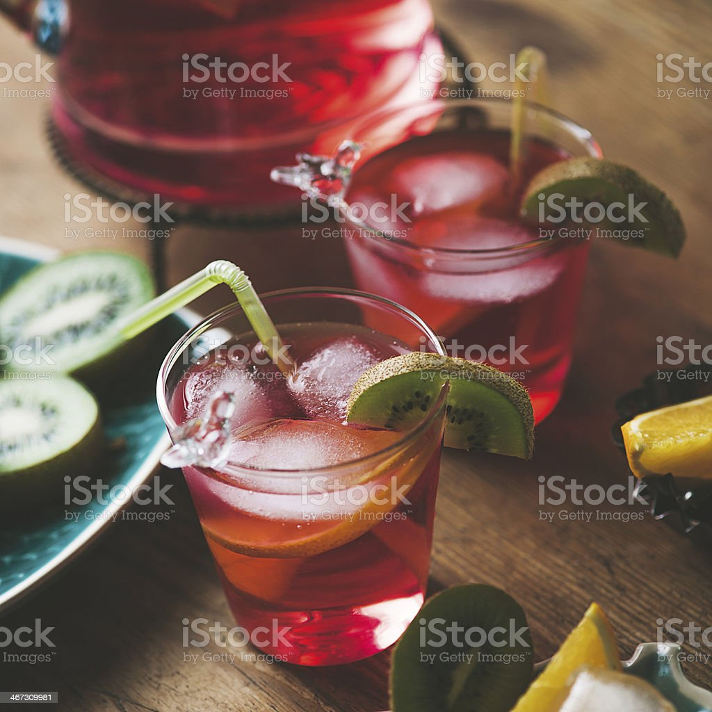 Two fresh drinks stock photo