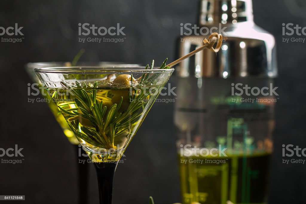 Two fresh green cocktails stock photo