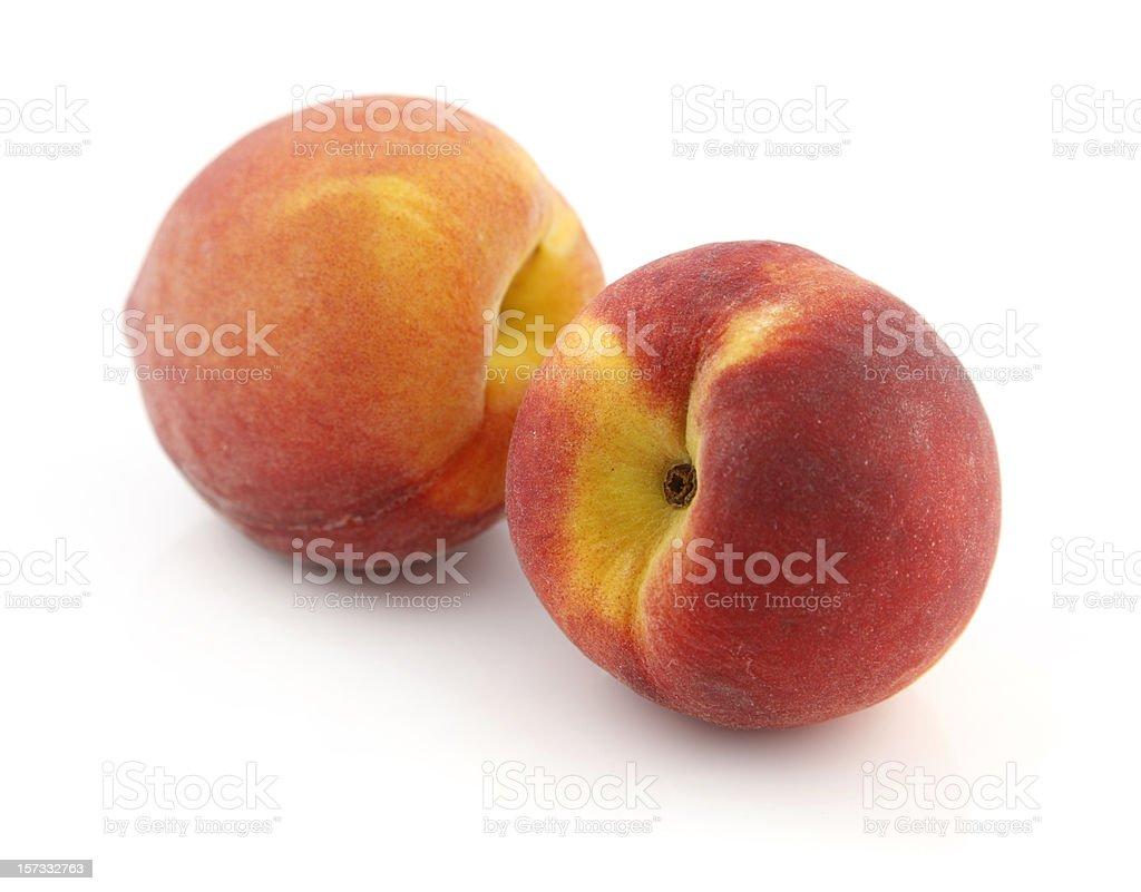 Two Fresh Peaches royalty-free stock photo