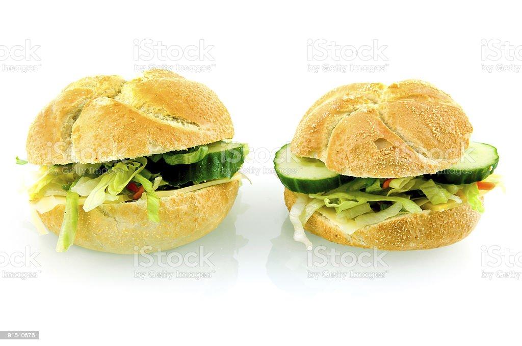 Deux des sandwiches photo libre de droits