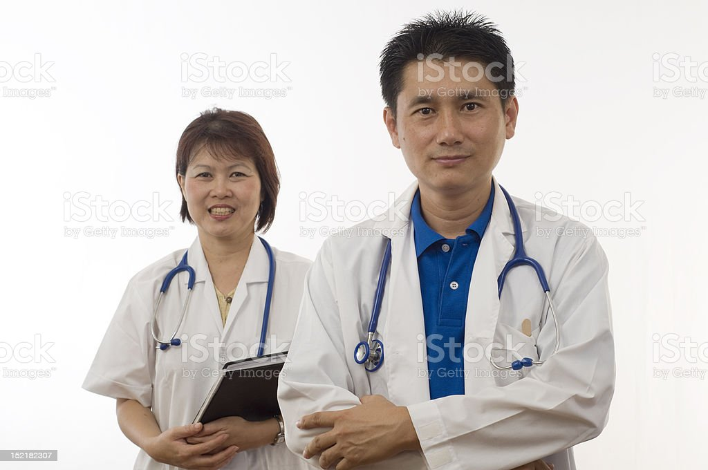 Two friendly Doctors royalty-free stock photo
