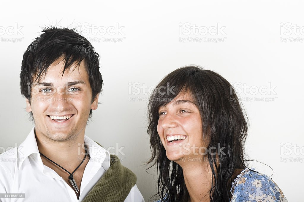 Two friends having good time stock photo