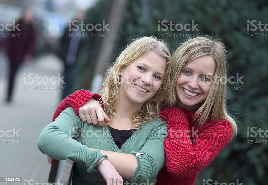 Two friends royalty-free stock photo