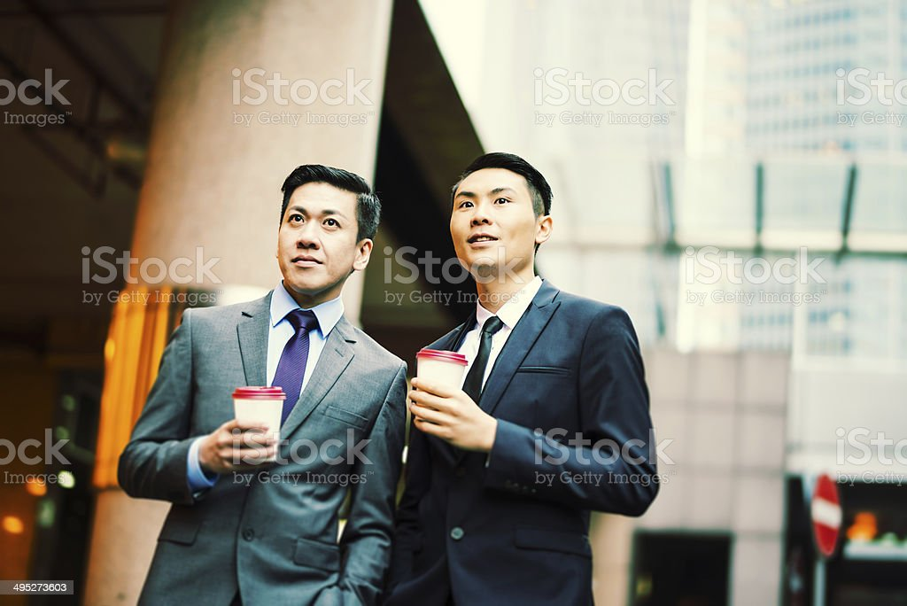 Two friends stock photo