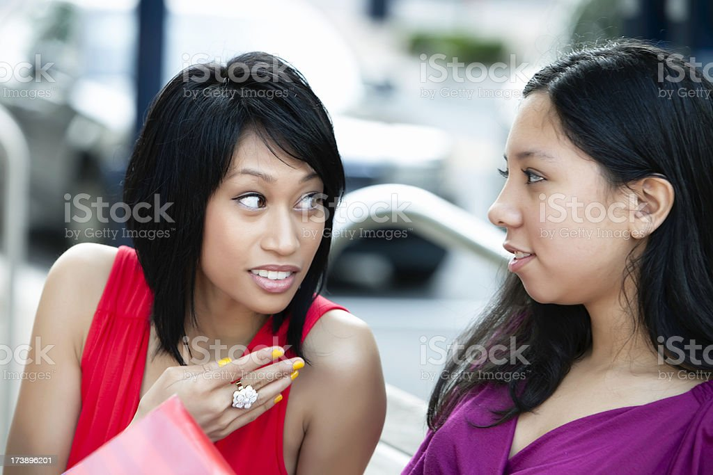 Two friends talking royalty-free stock photo
