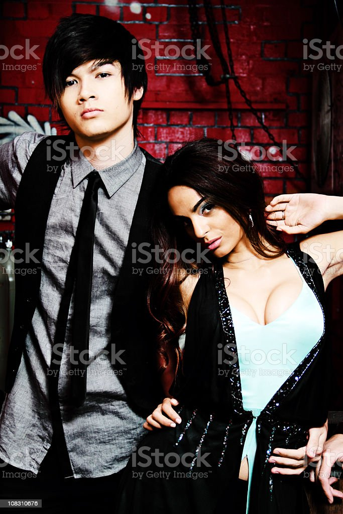 Two Funky Youths In An Alley royalty-free stock photo